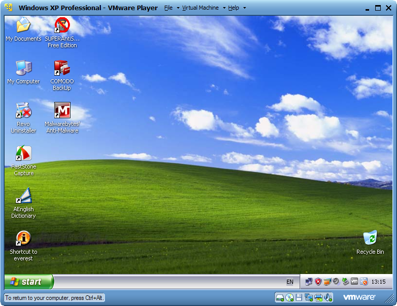 VMware Player 4.0.2 Build 591240